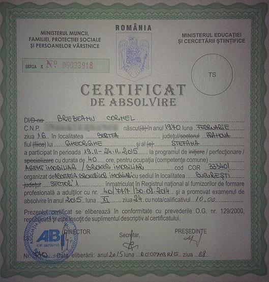 Certificat ABI